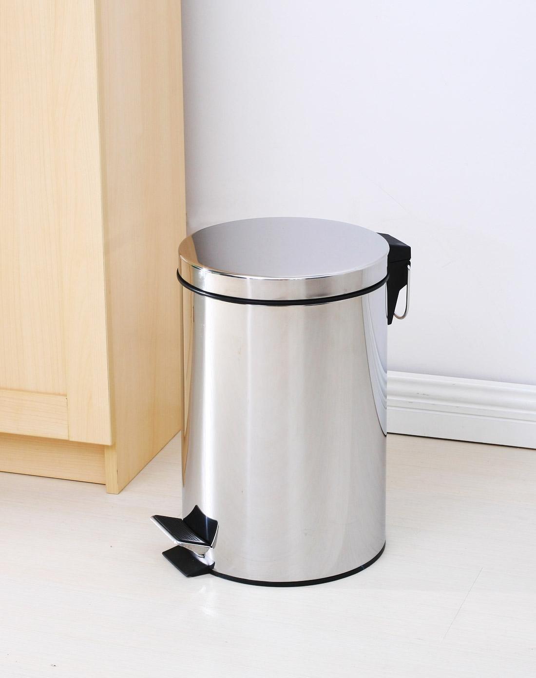 1208s厨卫专场不锈钢脚踏式带盖垃圾桶