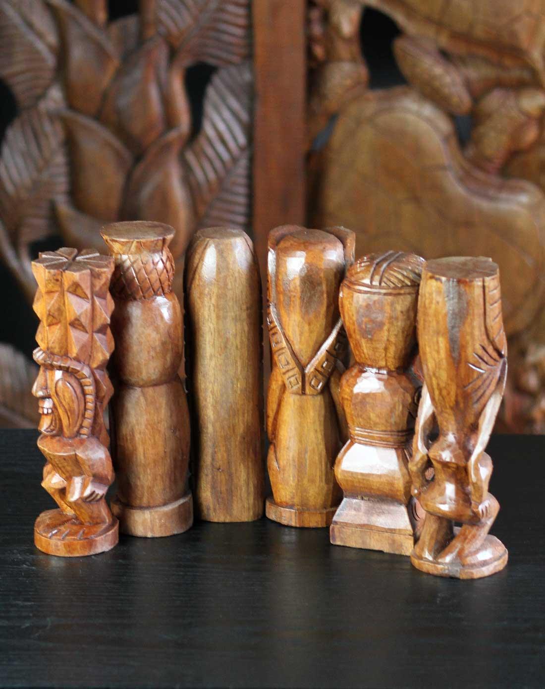 印尼木雕神像*招财祈福辟邪神像组合