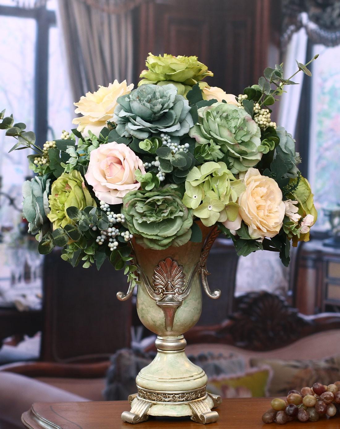 餐桌玄关装饰品-高档花瓶欧式油画花艺a