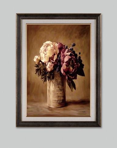 欧式复古装饰画 花卉