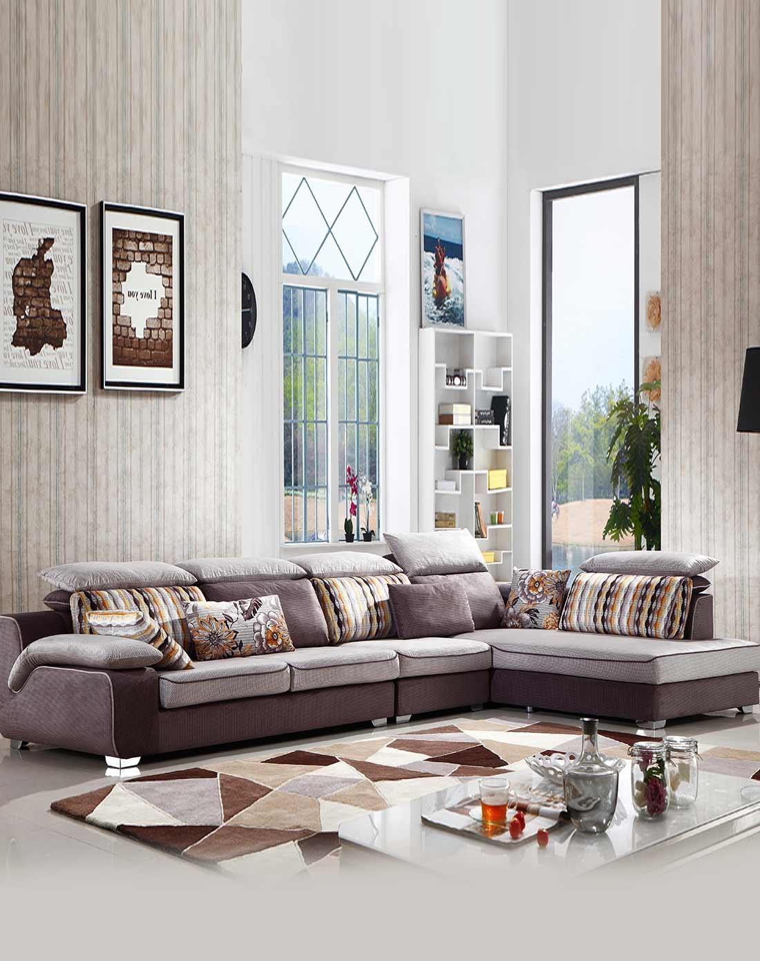 忆棉 会呼吸的布艺沙发3 1 左贵妃位图片图片