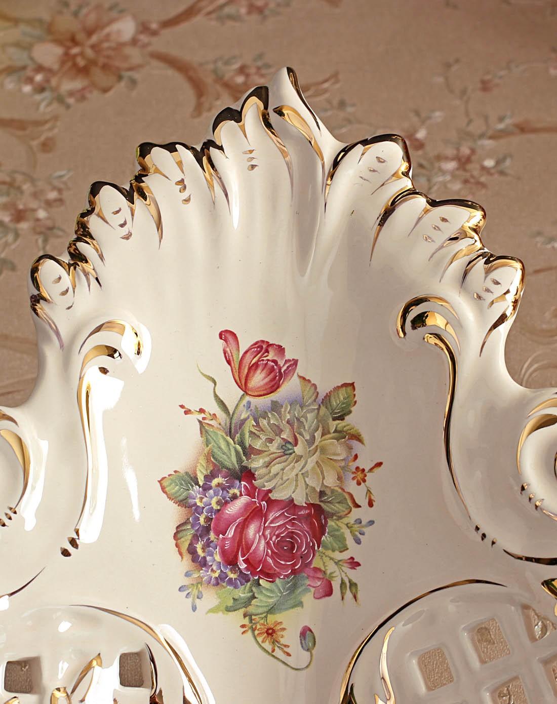 朵兰舍doolans家居专欧式陶瓷描金奢华果盘jda460图片