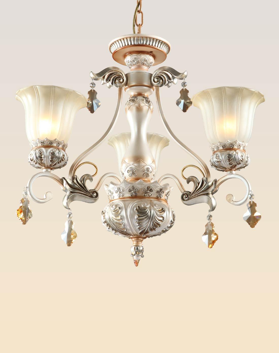 欧式餐厅吊灯具 三头饭厅水晶吊灯