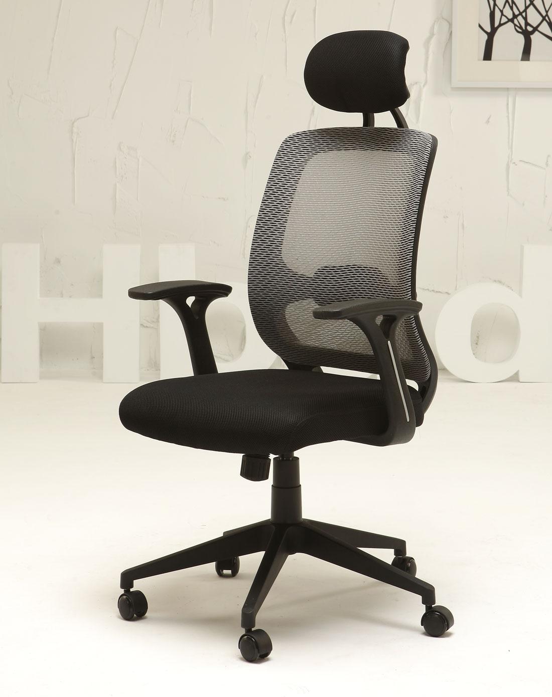 黑白调Hbada家具专场交织网布体型加大电脑椅