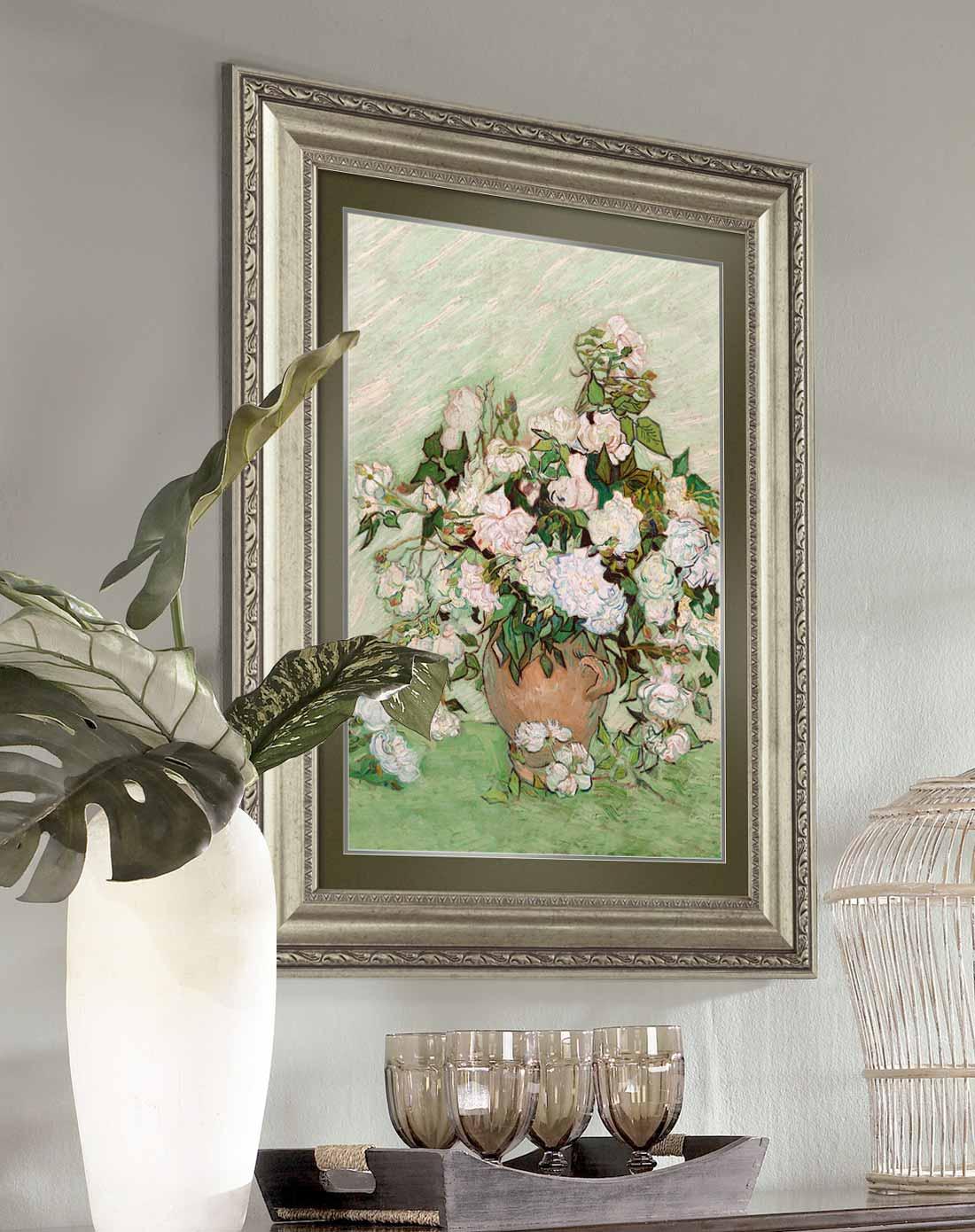 玫瑰 欧式精装客厅装饰画玄关挂画