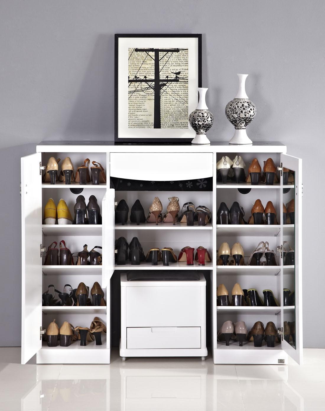 多功能鞋柜带鞋凳