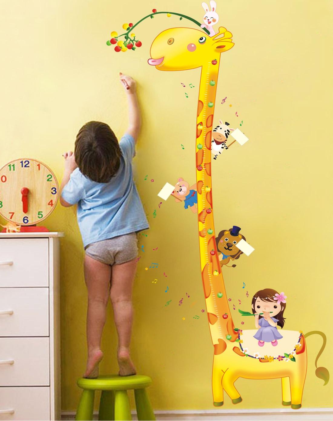 柠檬树lemon tree装饰画专场可爱儿童身高贴(长颈鹿)