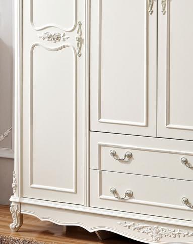 四门两抽法式雕花衣柜