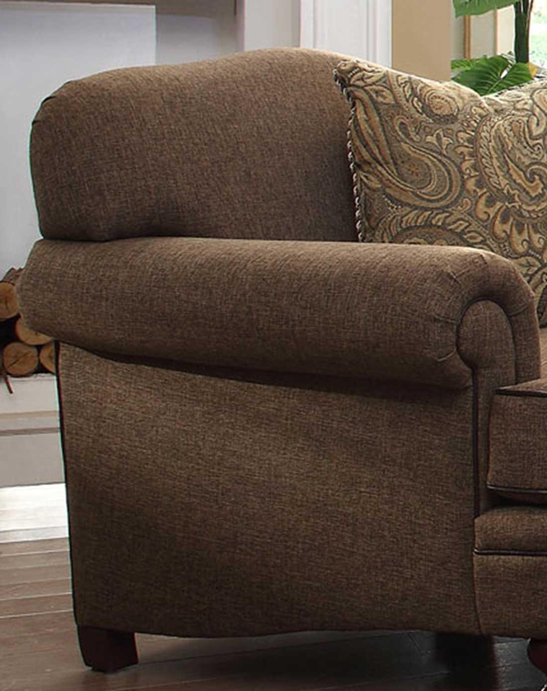 美式布艺沙发 单人位图片