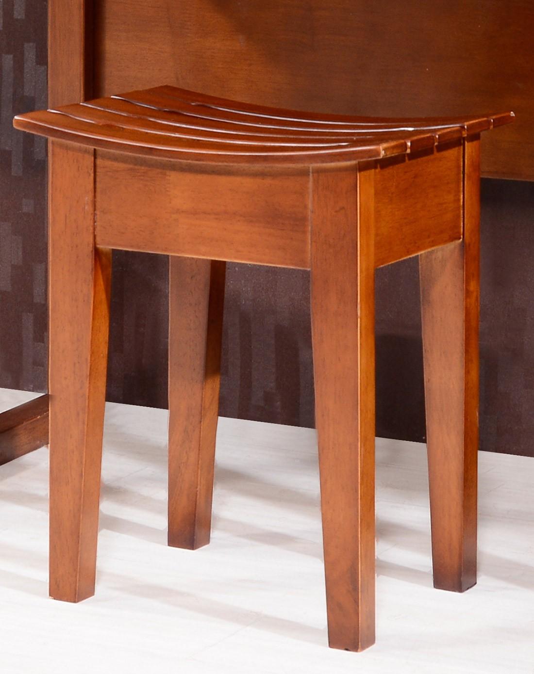 > 实木妆凳 现代中式化妆凳卧房梳妆台凳