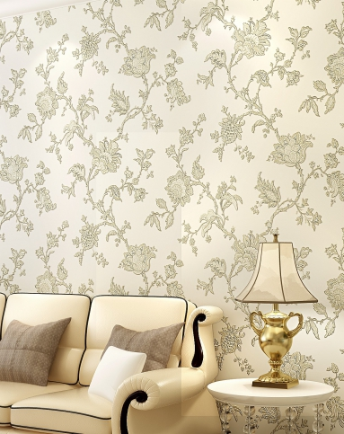米白色3d浮雕欧式简约风格立体壁纸图片