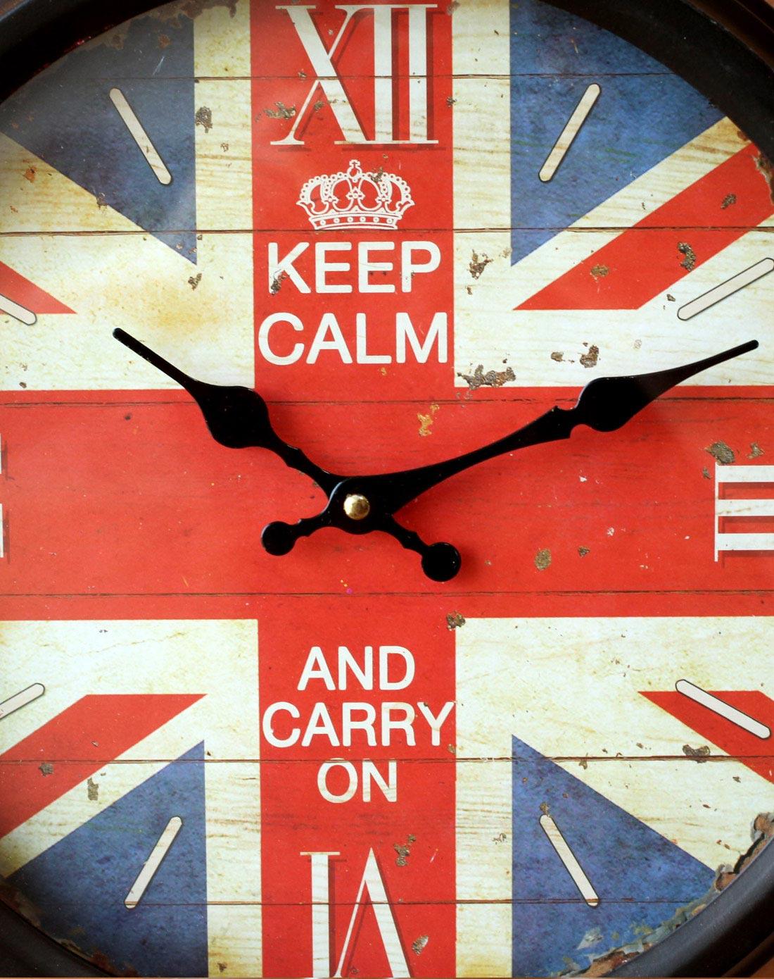 英国国旗图案挂钟