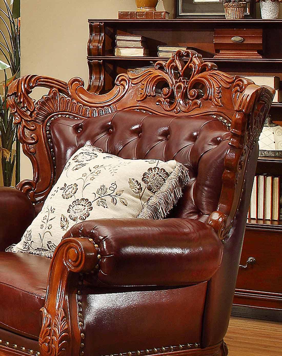 雅居格家具专场美式风格真皮沙发