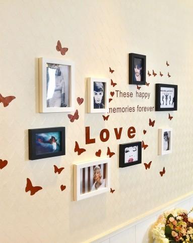 小墙面墙贴照片墙组合