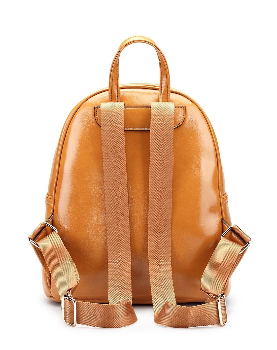 棕色学生双肩包旅行背包图片