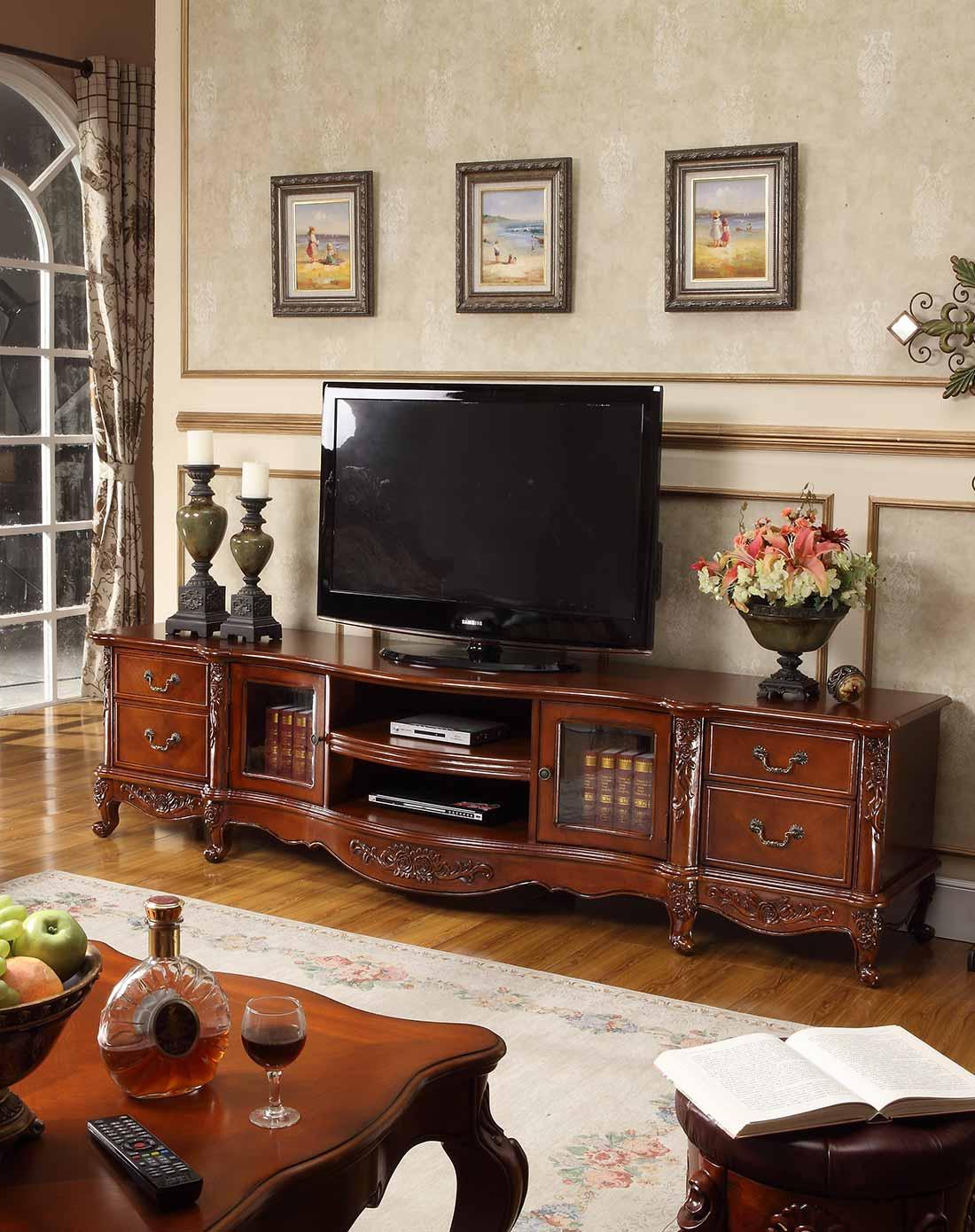 美式实木电视柜