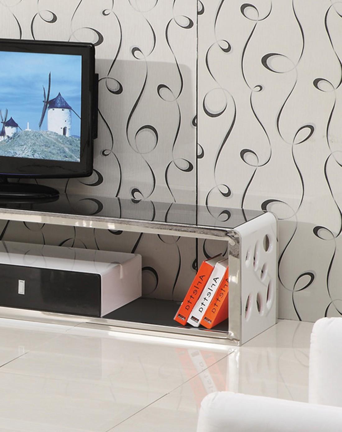 黑白色现代简欧式电视柜