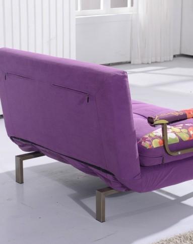 紫色双人折叠功能沙发