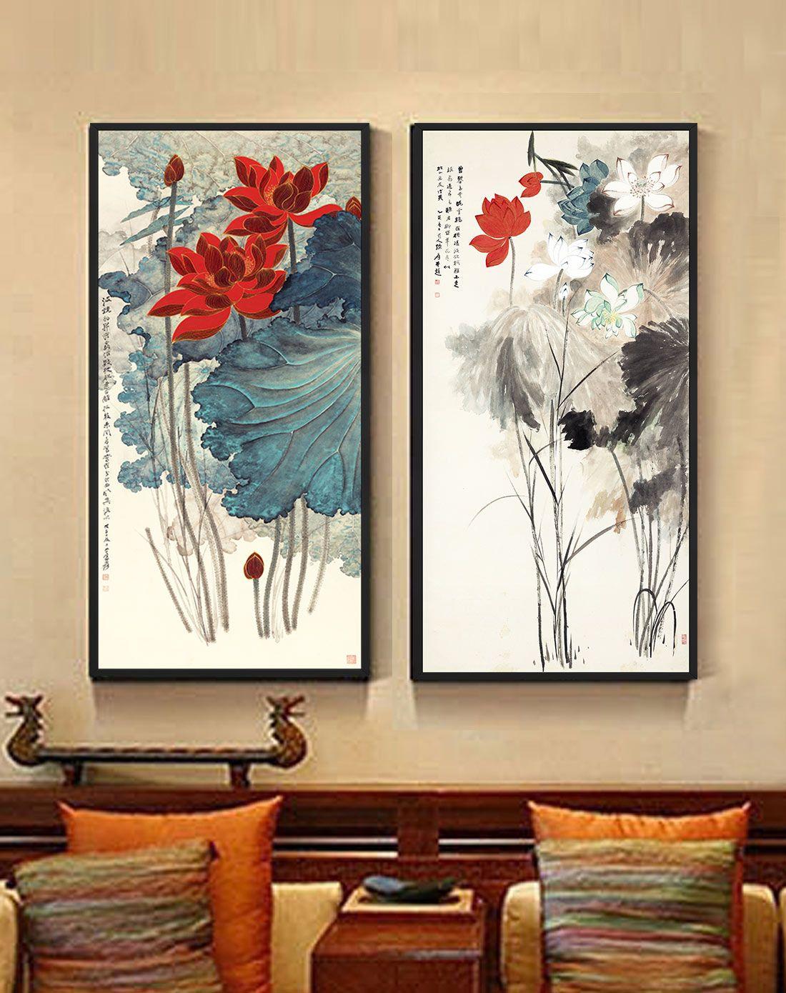 柠檬树家居装饰专场新中式客厅装饰画