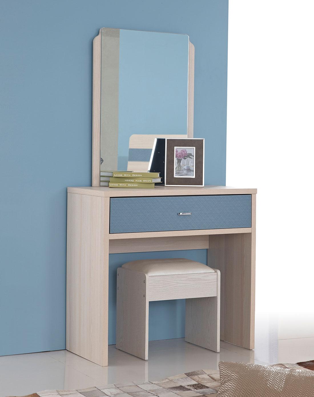 双虎家私 简约现代梳妆台/化妆桌凳 小户型梳妆柜 卧室家具13s201