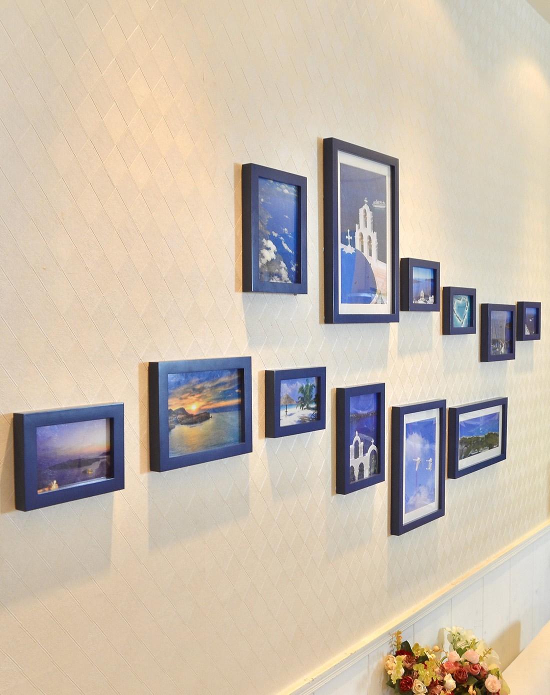 11框地中海系列照片墙蓝色组合