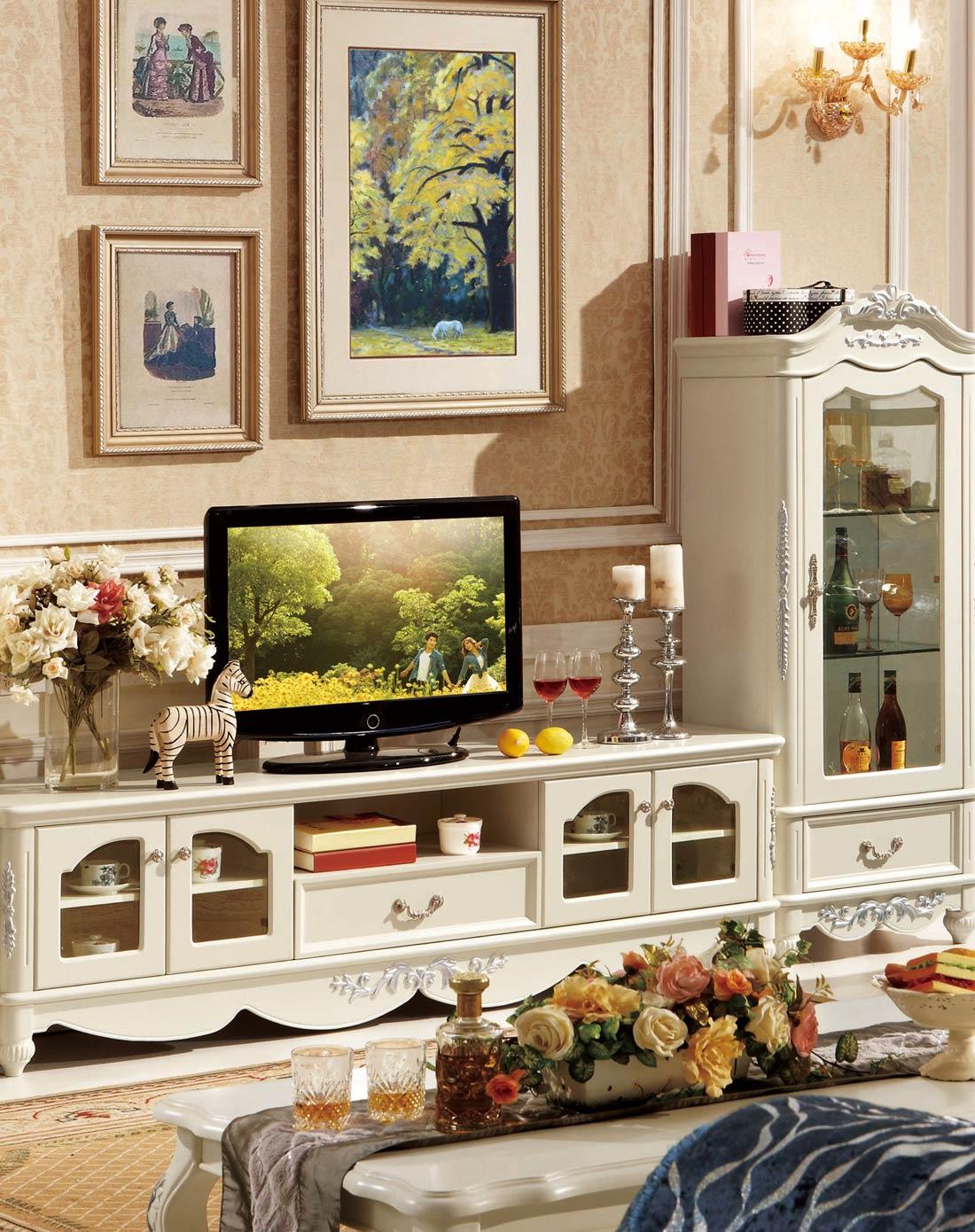 欧式简约电视柜 客厅卧室地柜矮柜