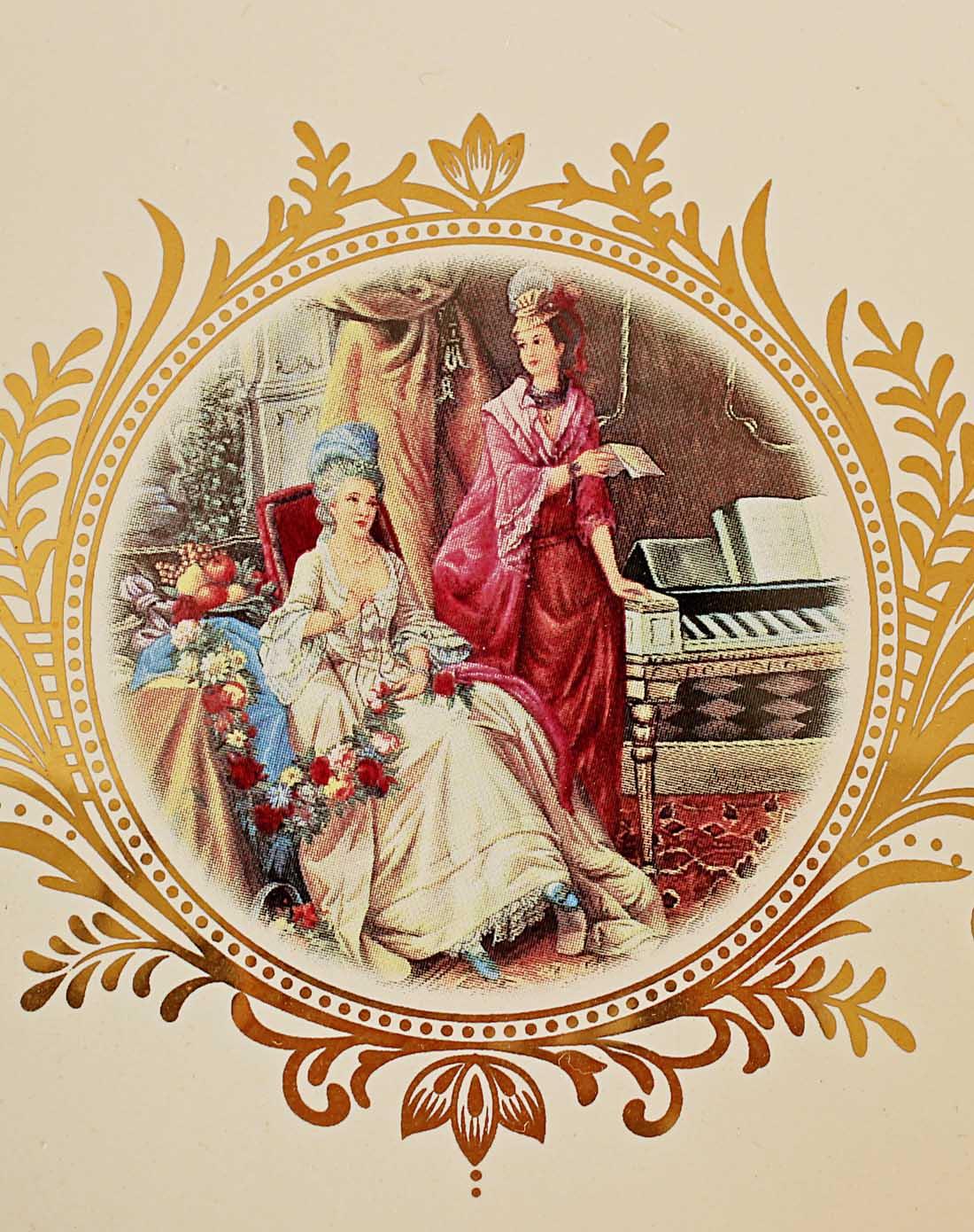 朵兰舍doolans欧式描金宫廷陶瓷果盘b84图片