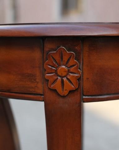 美式实木雕花复古花架