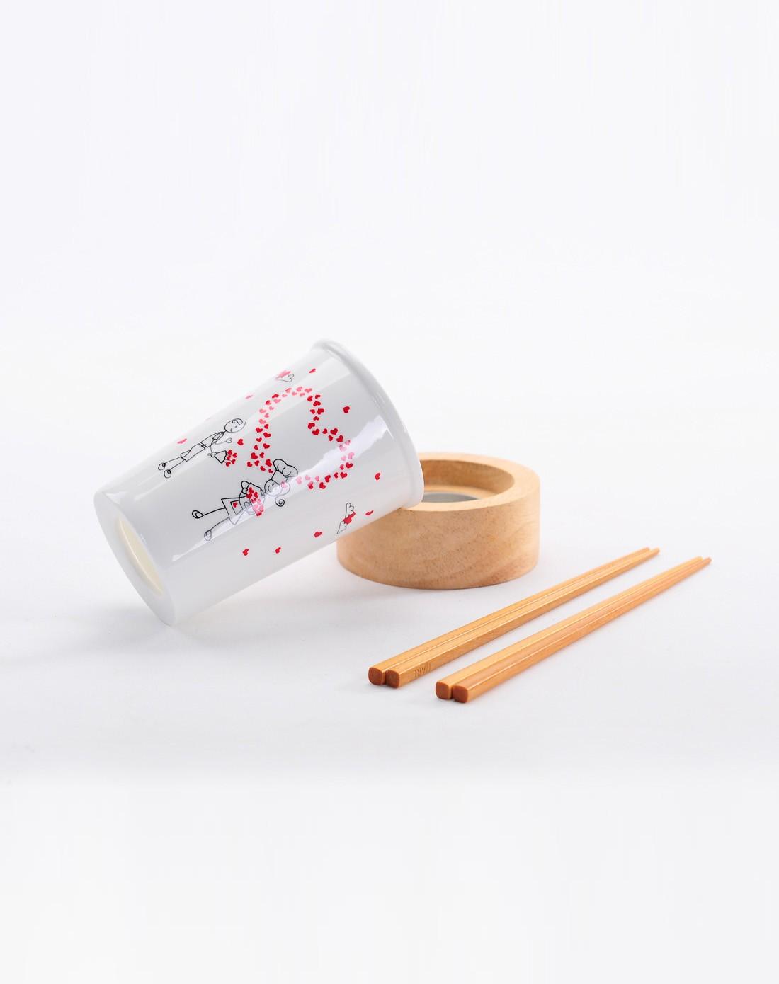 爱情简笔画筷子筒 甜蜜双人游