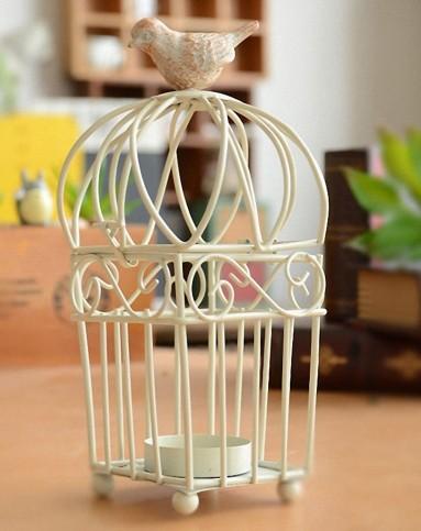 欧式铁艺烛台鸟笼创意家居饰品礼品
