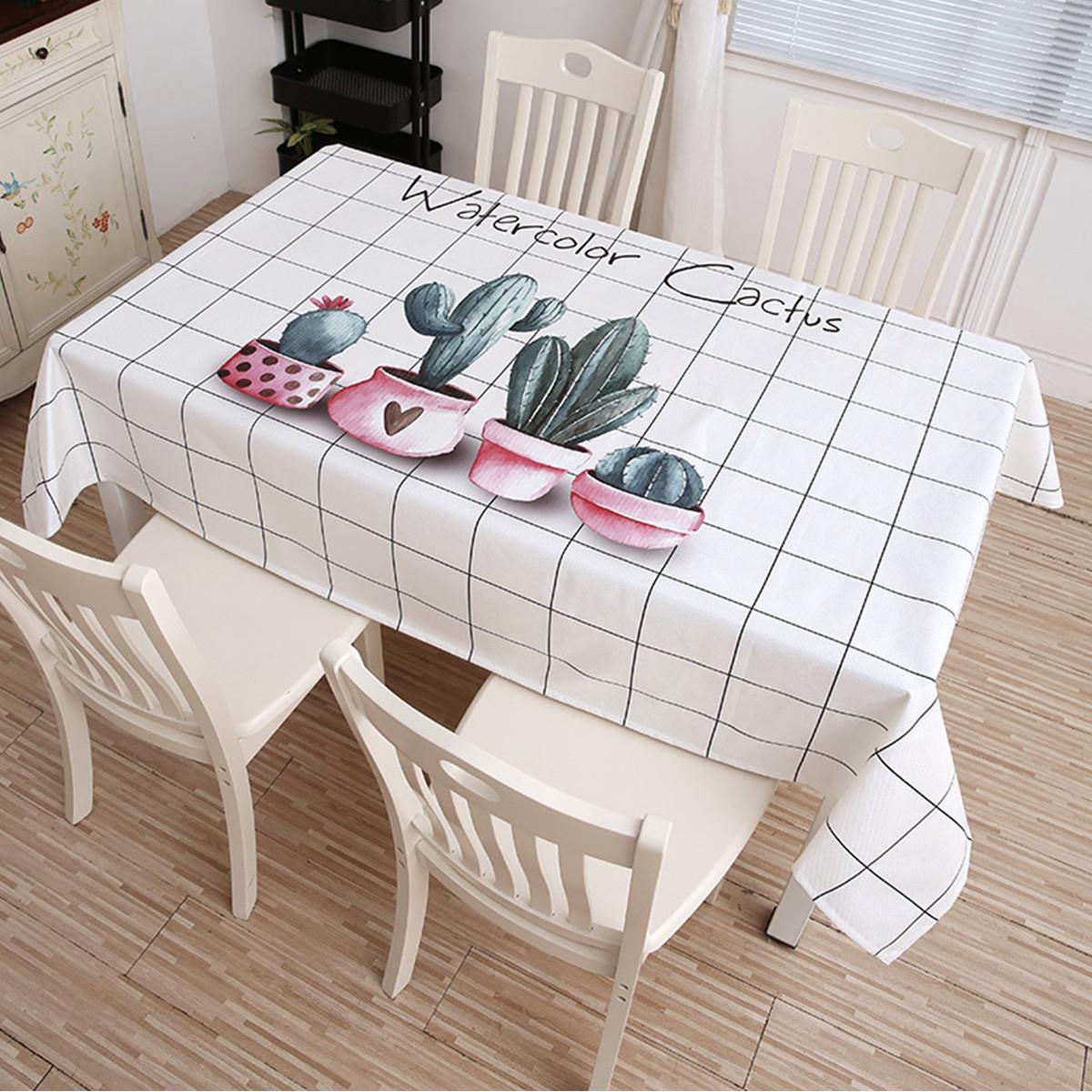 雪恋花桌布防水防油免洗桌垫餐桌布棉麻布艺茶几垫书桌ins学生北欧color