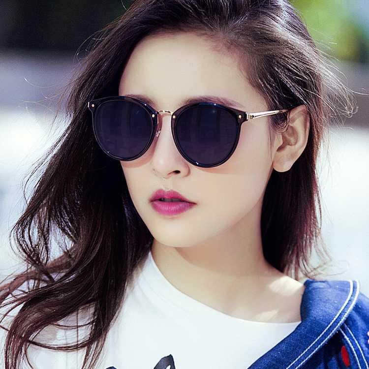 威古氏 明星同款高清偏光太阳镜女士大框墨镜防晒眼镜