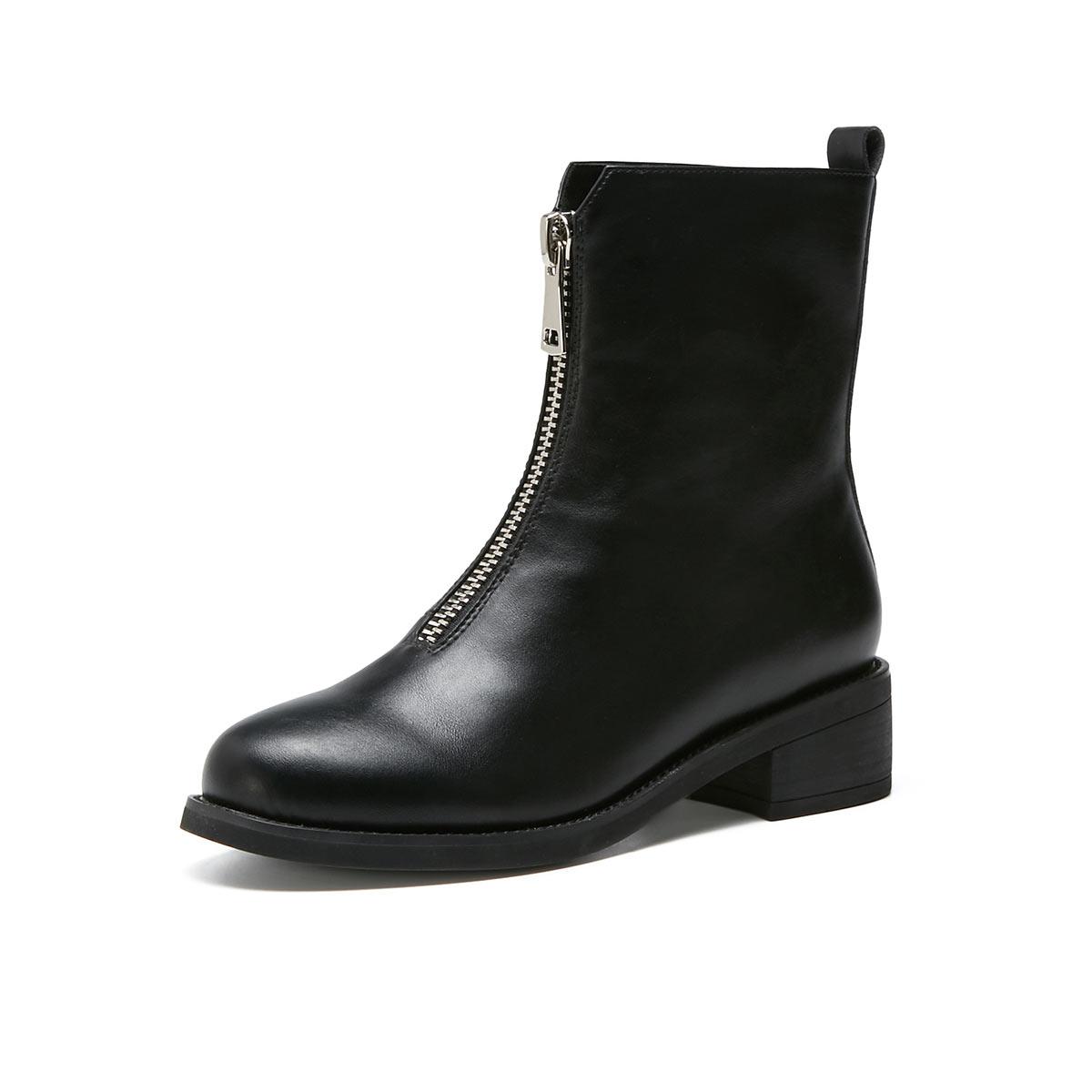 秋冬季新款女鞋子高帮时尚英伦风短靴新款时装靴短筒靴子