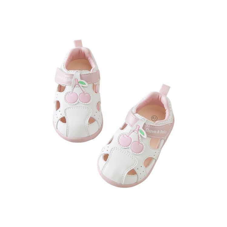 戴维贝拉夏季新款女童关键鞋宝宝包头凉鞋