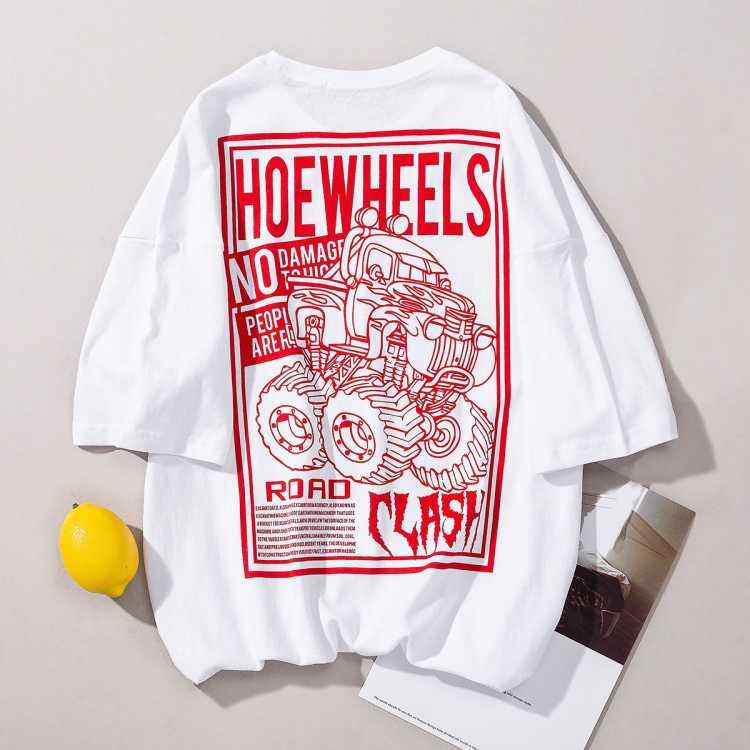 【国潮印花】夏季新款潮流时尚男式宽松短袖T恤
