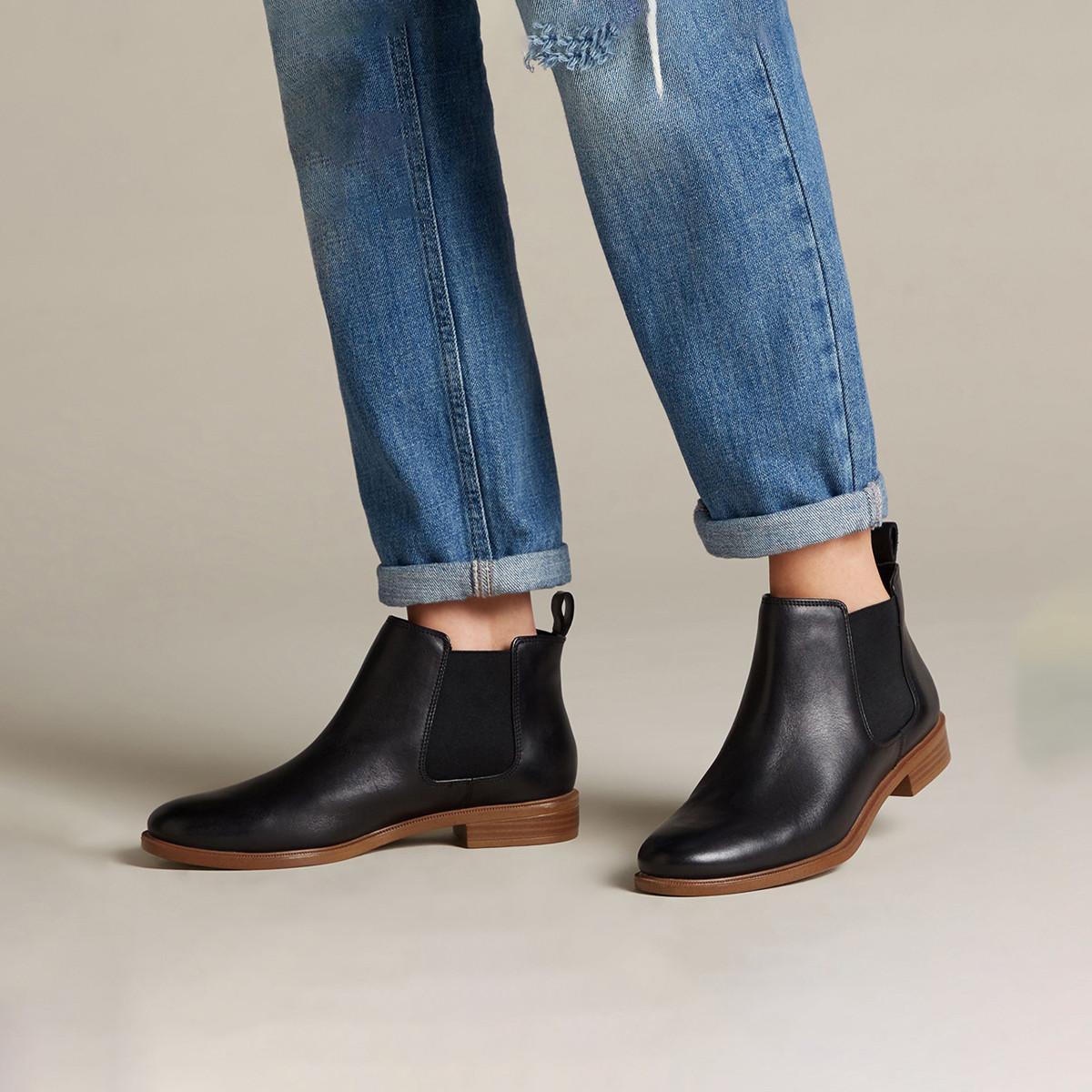 其乐Taylor Shine英伦短筒靴舒适切尔西靴踝靴女靴