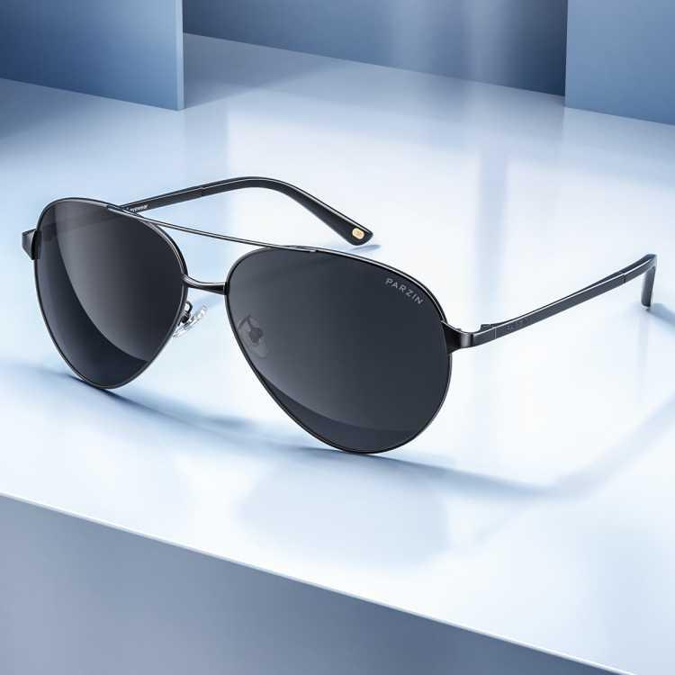 【型男必备】帕森新品偏光太阳镜 时尚男士金属大框驾驶镜潮墨镜