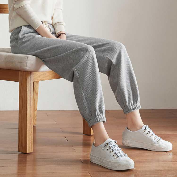 2021春款新品舒适显瘦百搭休闲运动风卫裤女裤子