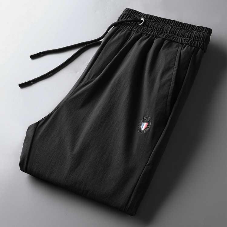 【冰丝轻薄高弹力】春夏新款耐磨微皱直脚运动裤松紧裤男士休闲裤