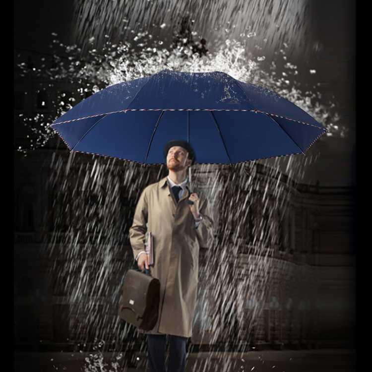 【限时特惠】加大伞面双人商务经典折叠便携晴雨两用雨伞