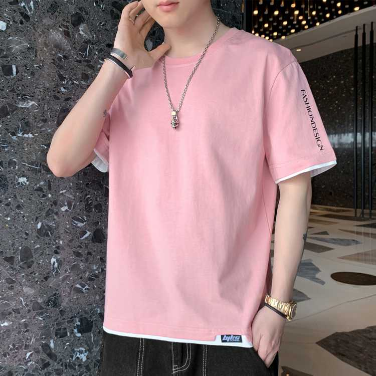 MIFFY2021年新款纯色男士百搭舒适圆领休闲短袖男式T恤
