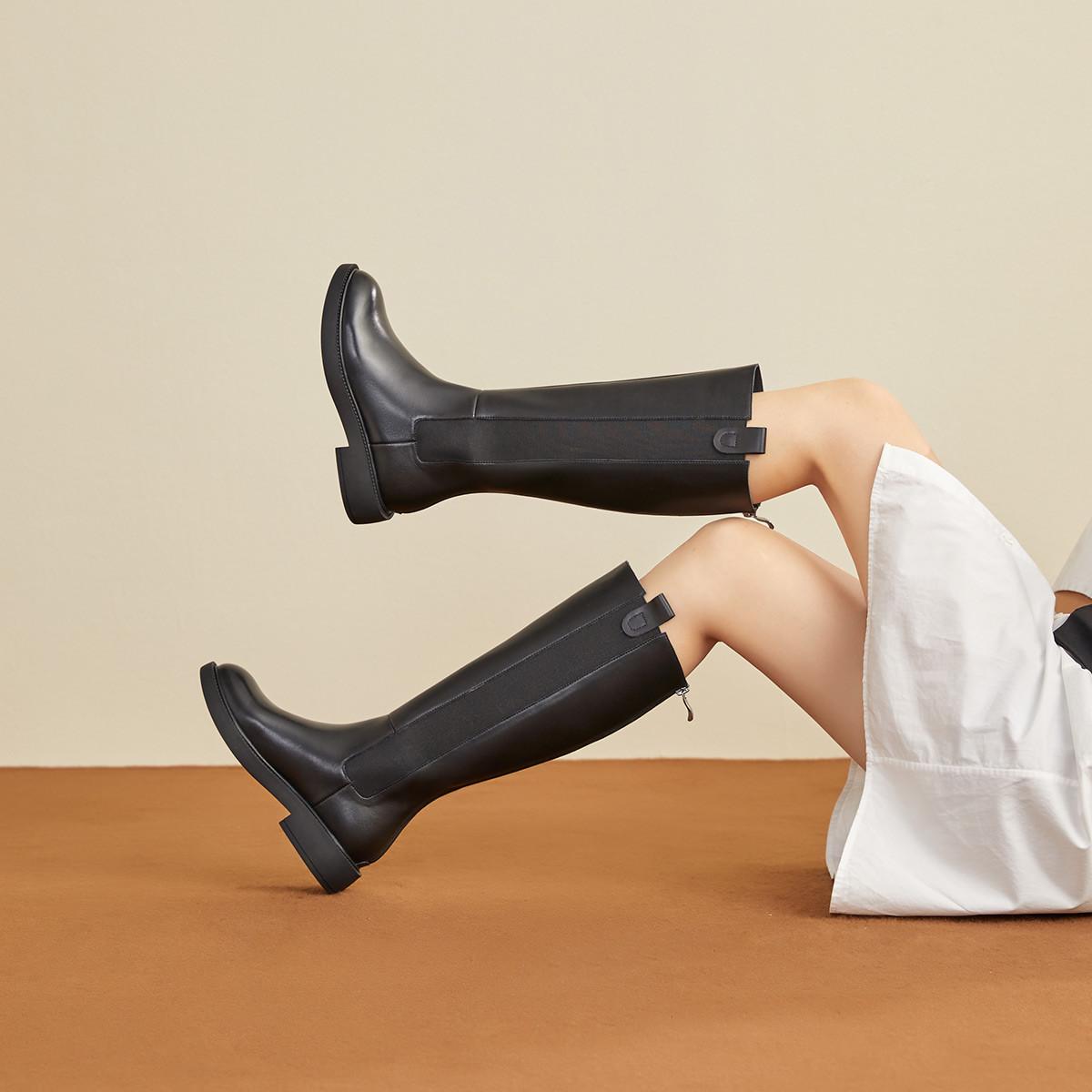 森达2020冬季新款时尚欧美骑士靴性感女长筒靴
