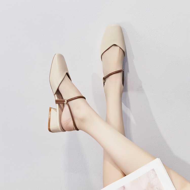 【司藤同款】新款粗跟单凉鞋女包头凉鞋女士凉鞋子女凉鞋女夏女鞋