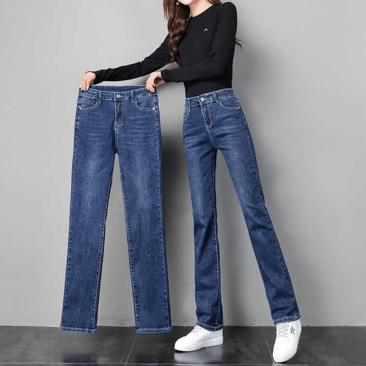 2021新款高腰直筒裤女士宽松百搭显瘦裤子显腿长时尚牛仔裤女