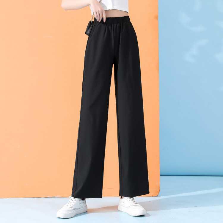 真维斯旗下春夏新品2021年时尚宽松直筒阔腿薄款休闲裤女长裤