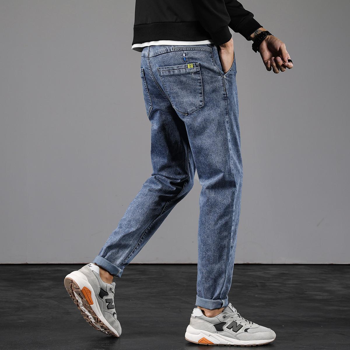 【风尚系列】罗蒙春季新品潮流修身小脚裤棉弹舒适男士牛仔裤