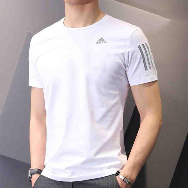 2021春季新款阿迪达斯男子梭织T恤运动短袖圆领健身休闲男装