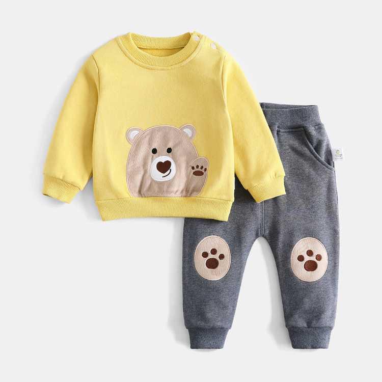 【2021春上新】男童套装宝宝卫衣两件套休闲套装外出卡通潮