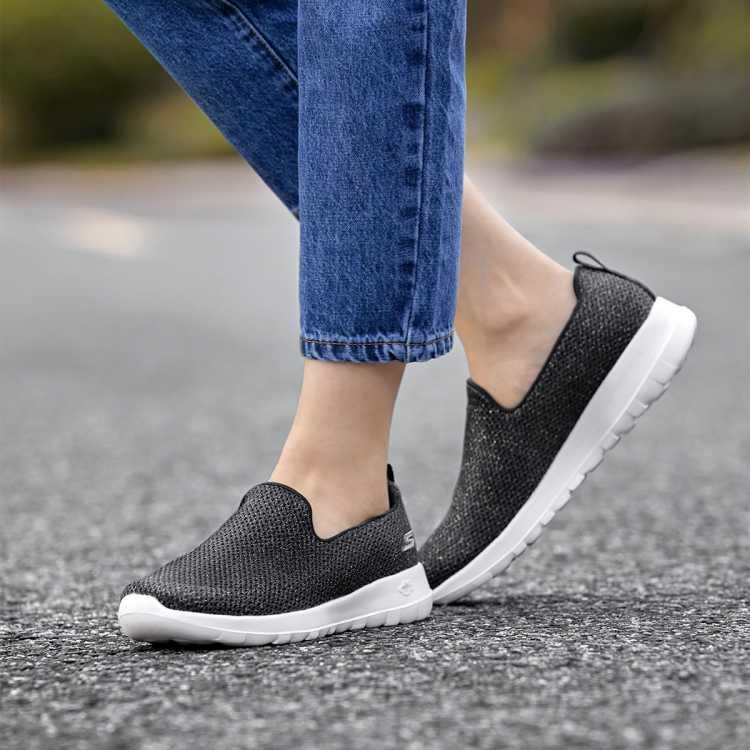 斯凯奇女士一脚蹬舒适休闲运动鞋健步鞋女网面鞋
