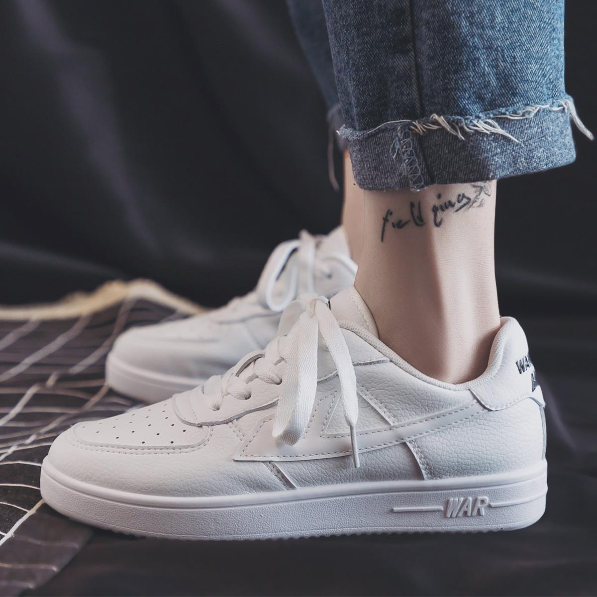 【乘风破浪的姐姐推荐款】舒适小白鞋情侣款休闲鞋女鞋拍大一码